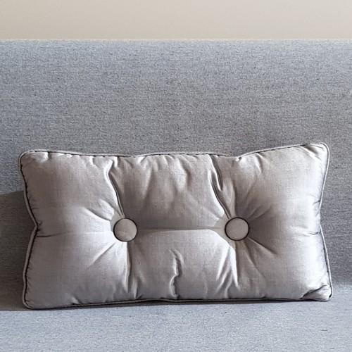 2 Buttoned - rectangular - silver