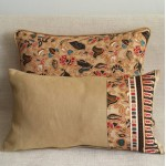 Batik Jewels - rectangular - cushion  - beige
