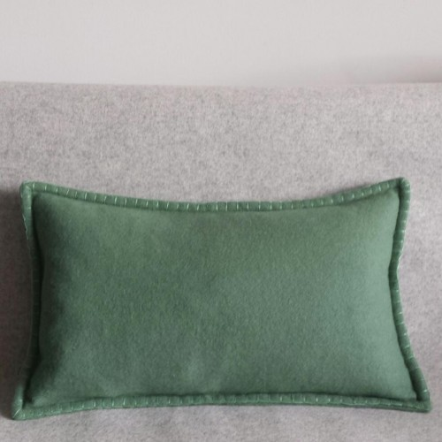 Felt with Blanket Stitch - cushion - rectangular - mint green