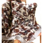 Camouflage Throw - taupe, chocolate & black