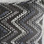 Chevron cushion - rectangular - grey