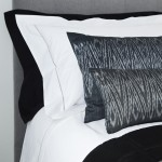 Ikat Zigzag cushion - long - grey