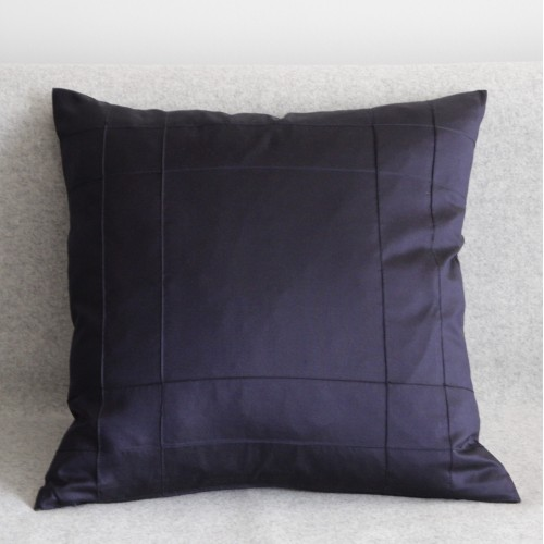Stitched Grid- cushion - square - navy