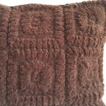 Crochet Squares - square- cushion - chocolate