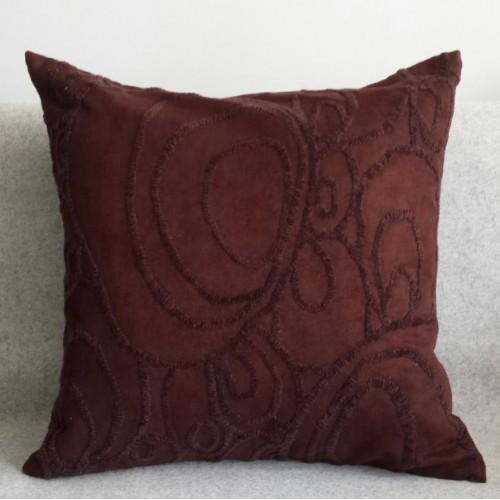 Curves - square - cushion - chcolate