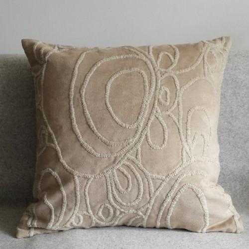 Curves - square - cushion - beige
