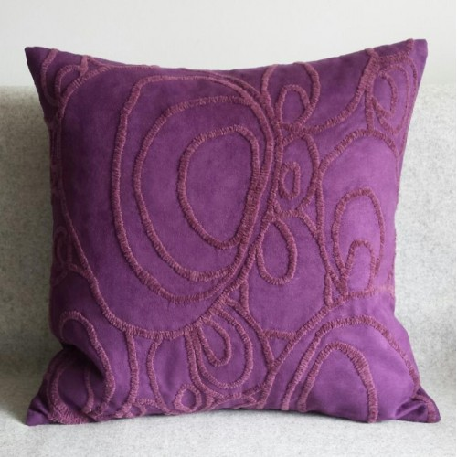 Curves - square - cushion - purple