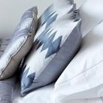 Ikat Diamond Row cushion - rectangular - silver grey