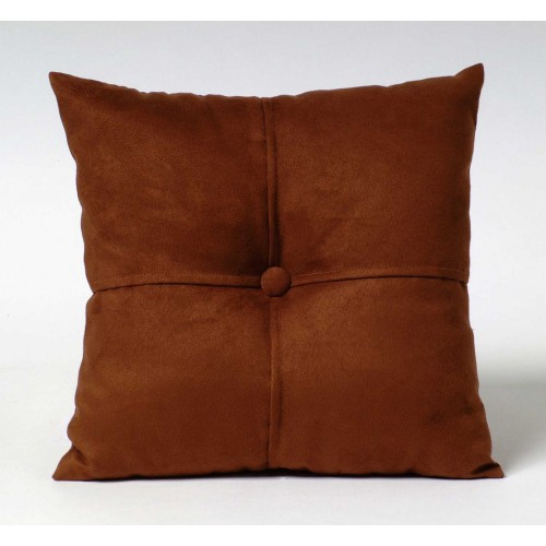 Faux Suede cushion - small square - brown