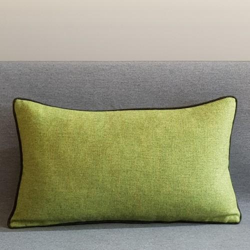 Herringbone Wool cushion - rectangular - greens