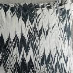 Marbled cushion - large rectangular - black