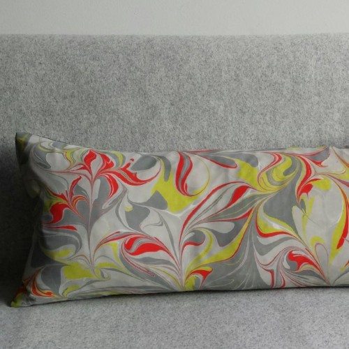 Marbled cushion - long rectangular