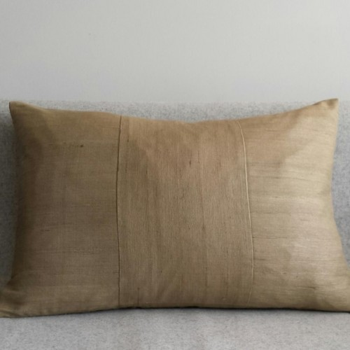 Matka Silk 3 Panel - large rectangular - cushion - khaki