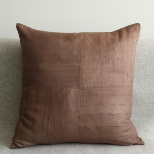 Matka Silk 4 Panel - square - cushion - coffee