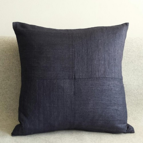 Matka Silk 4 Panel - square - cushion - navy
