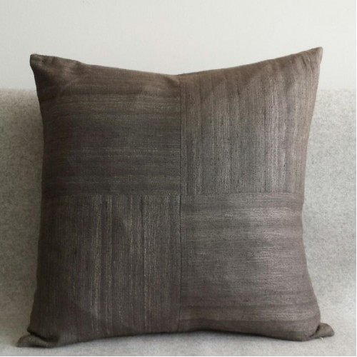 Matka Silk 4 Panel - square - cushion - grey