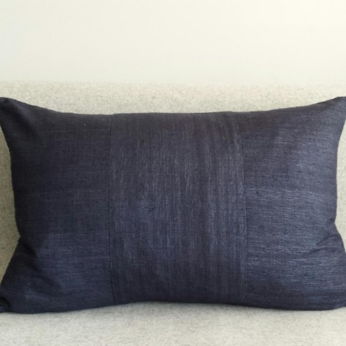 Matka Silk 3 Panel - large rectangular - cushion - navy
