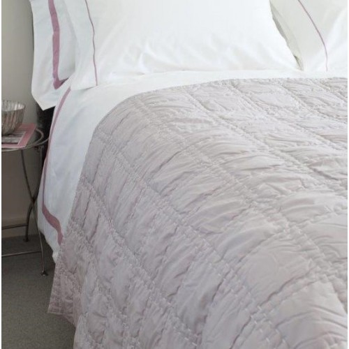 Running Stitch Grid Full Quilt - Cotton Percale