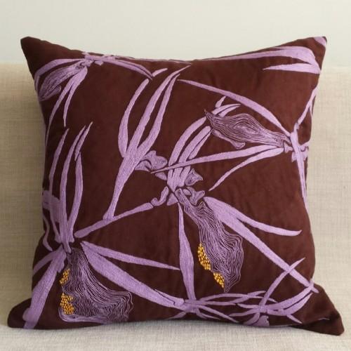 Faux Suede Flora - square - cushion