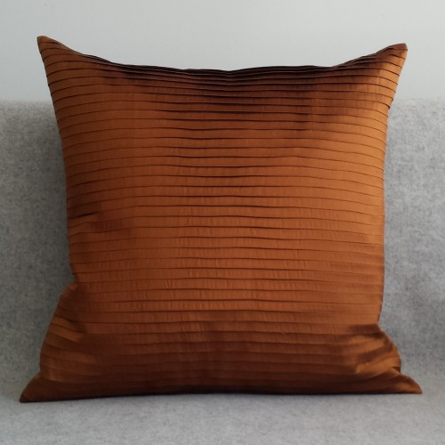 Pleated - square -  cushion - ginger