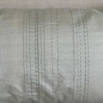 Running Stitch - rectangular - cushion - mint
