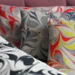 Marbled cushion - long rectangular