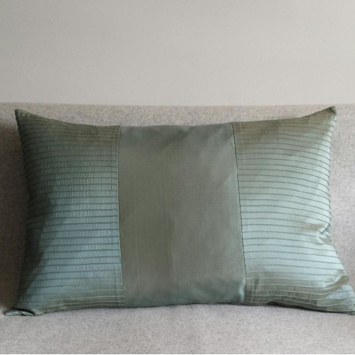 Pintuck Stripes 2 Panel - large - rectangular - cushion - mint