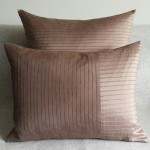 Pintuck Stripes - cushion - rectangular - coffee