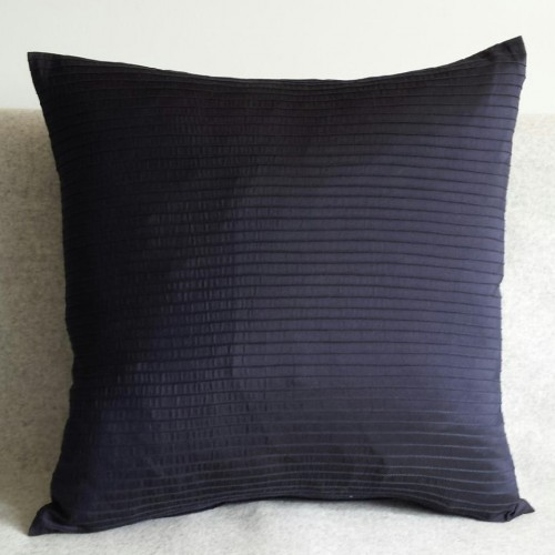 Pintuck Stripes - cushion - square - navy