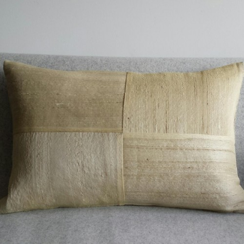 Raw Silk 4 Panel - large - rectangular - cushion - corn