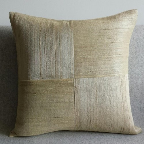 Raw Silk 4 Panel - square - cushion - corn