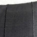 Ribbed cushion - rectangular - black