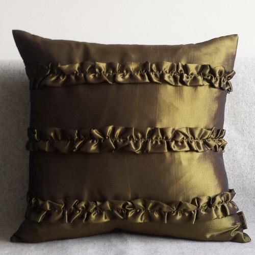 Ruffles cushion - square - olive