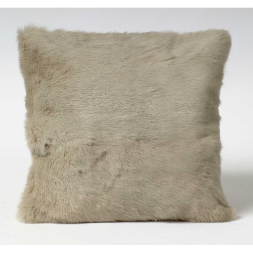Soft Fur cushion - small square - khaki