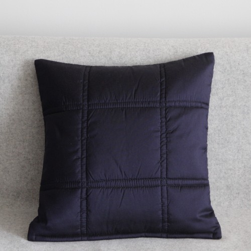 Stitched Grid cushion - small square - navy