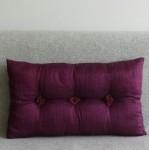 Tufted Cushion - rectangular - Aubergine x2 SAVE £2.00