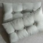 Tufted Cushion - rectangular - Mint