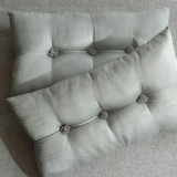 Tufted Cushion - rectangular - Mint x2