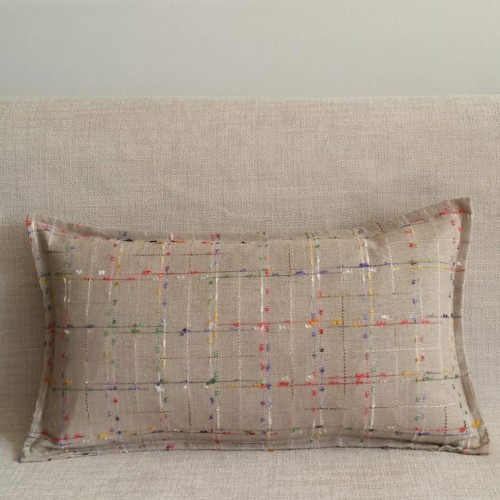 Colourful Tweed - rectangular - cushion - beige