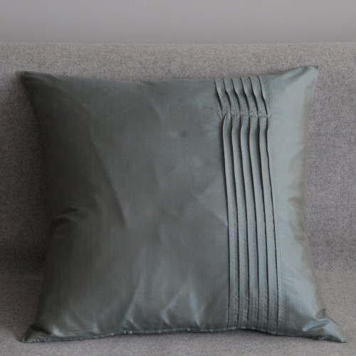 Twisted Pleat - cushion - square - mint