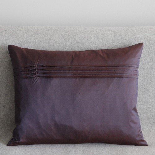 Twisted Pleat - cushion - rectangular - aubergine