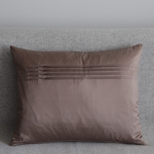 Twisted Pleat - cushion - rectangular - coffee