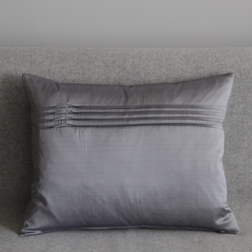Twisted Pleat - cushion - rectangular - silver