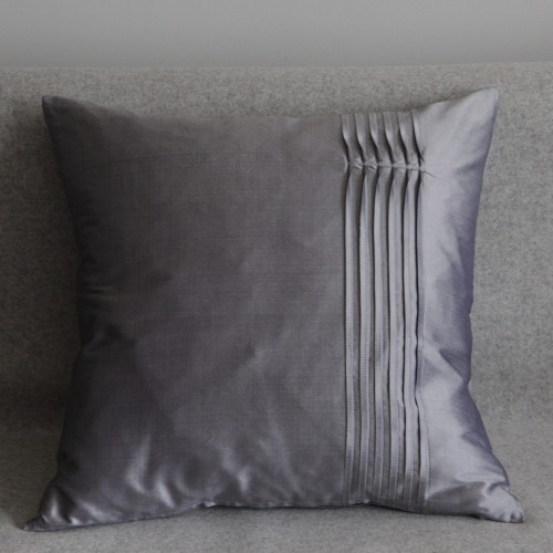 Twisted Pleat - cushion - square - silver