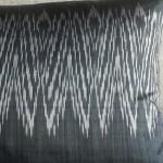 Ikat Zigzag cushion - rectangular - grey